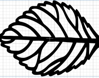 digital copy of filigree leaf