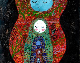 Russian Dolls - Original Painting