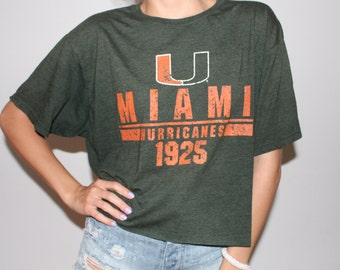 University of Miami - College Vintage Graphic t-shirt (one of a kind) College Tailgate Game Day Tshirt