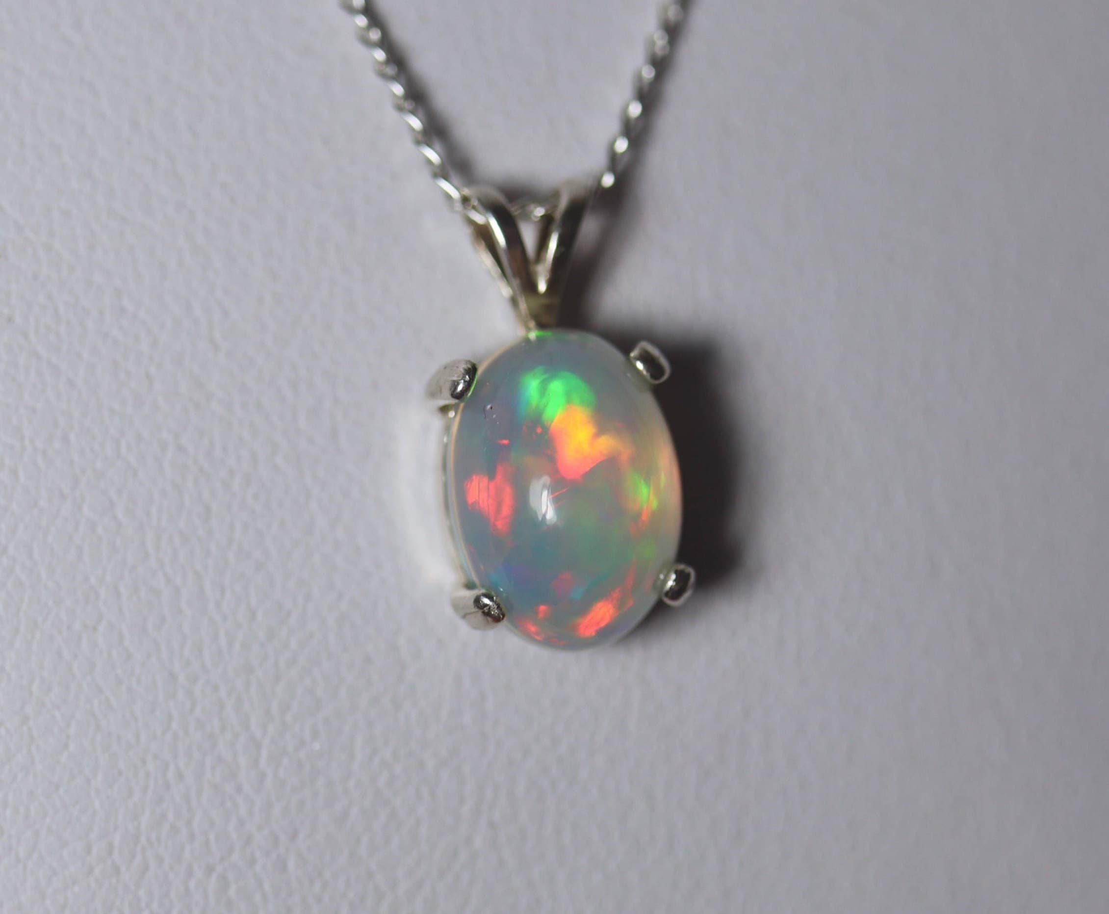 cut amazon silver princess real jewelry dp sterling carats opal necklace created pendant com