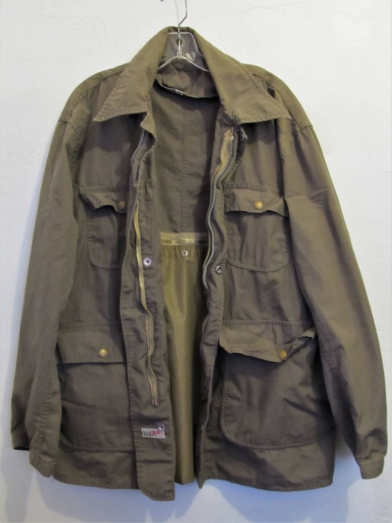 48R Cotton COMFY HUNTING Coat A Vintage Colored 40's era M L Bird Men's Drab Type By n87nwY1Zxq