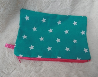 Multipurpose fabric, lined pouch.