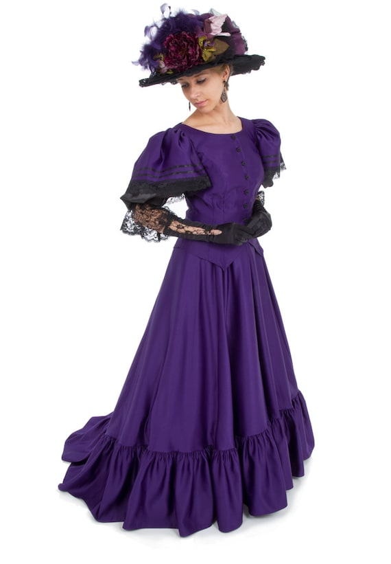 1900 Edwardian Dresses, Tea Party Dresses, White Lace Dresses Anastasia Victorian Fancy Dress $173.00 AT vintagedancer.com