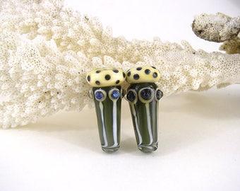 SRA artisan lampwork glass tube focal bead patty lakinsmith art glass