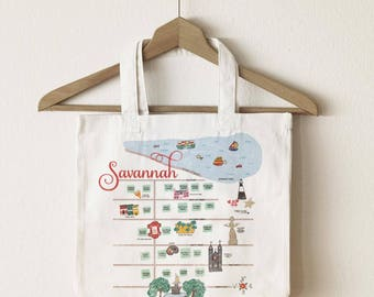 Savannah Map Tote