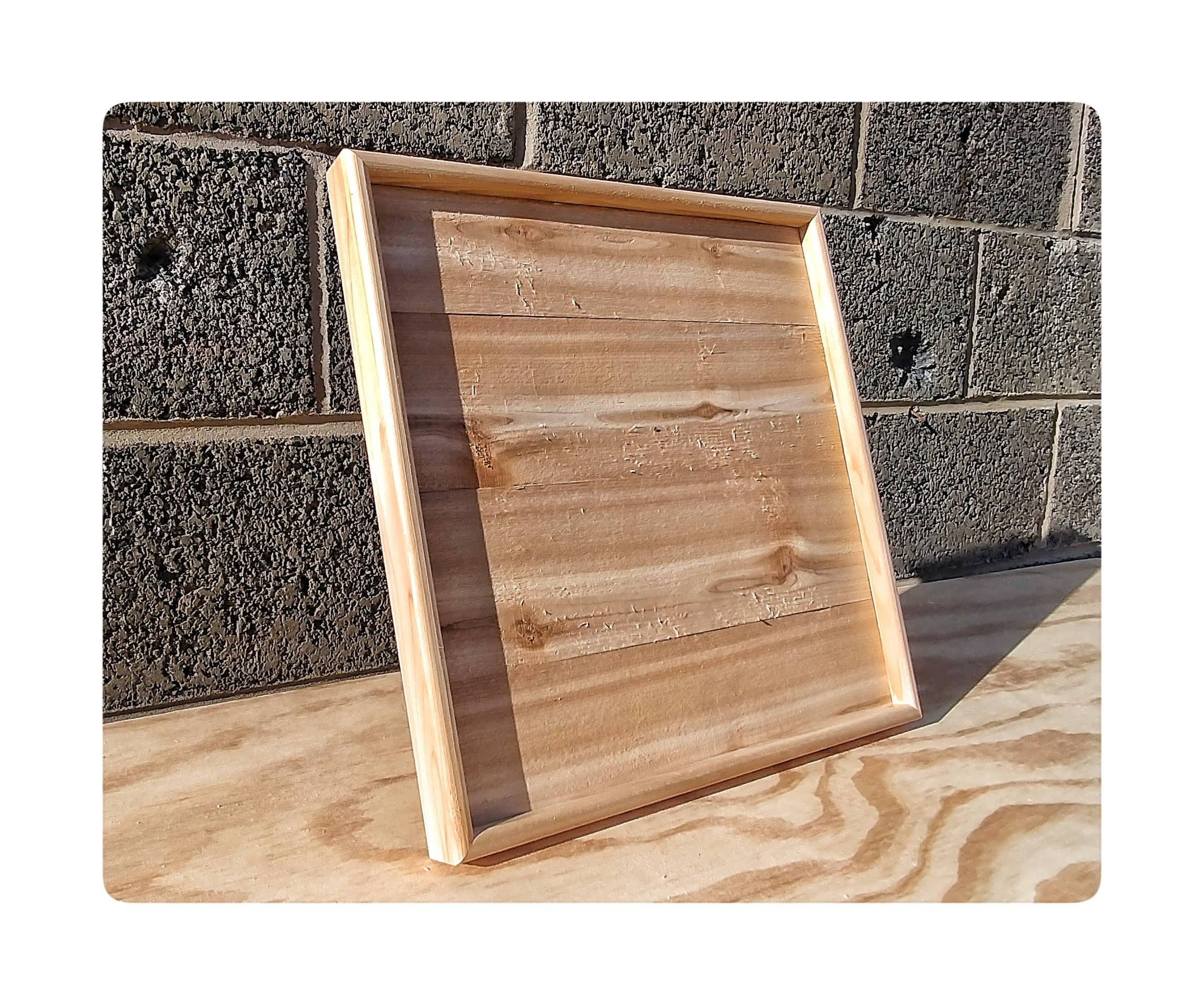 Leere Zeder Rahmen Cedar Holz Leinwand Holz für Holz