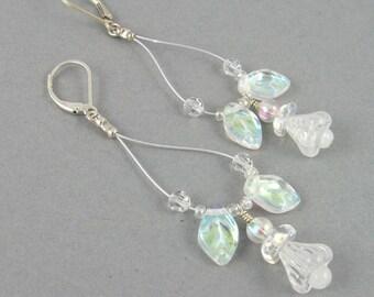 White Bellflower earrings