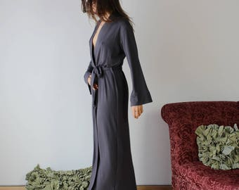 womens long robe bamboo full length - ICON - made to order