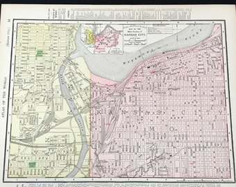 Kansas city map Etsy