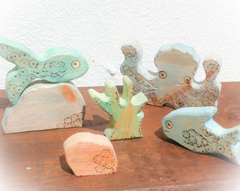 Under the Sea wooden toy.