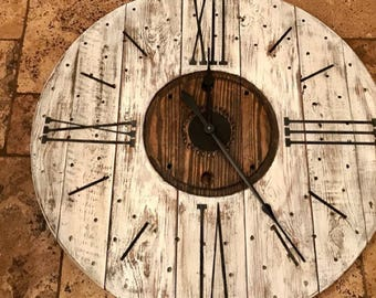 "Farmhouse clock One Set 12 separate single use Roman Numeral Stencils and tick marks for a large 30"" wall clock the BOARD is NOT INCLUDED"