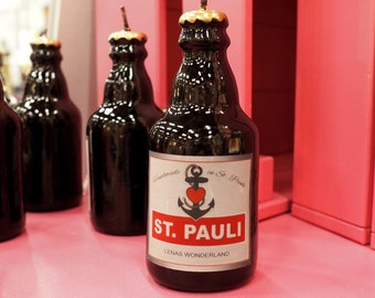 St. Pauli Candle in beer bottle form