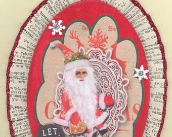Santa Whimsical Christmas Ornament #1