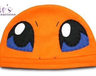 Pokemon - Charmander Hat / Fleece Hat / Winter Hat / Pokemon Hat / Fleece Pokemon Hat / Video Game Characters