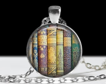 Book Jewelry Book Pendant Love Books Literary Necklace Library Jewelry Book Lovers Gift Bookworm Necklace