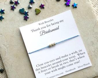 Bridesmaid Thank You Bracelet, Wish Bracelet, Wishing Star Bracelet, Make A Wish, String Bracelet, Good Luck Bracelet, Friendship Bracelet,