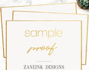 Sample Proof, Invitation Sample Proof, Digital file, Printable