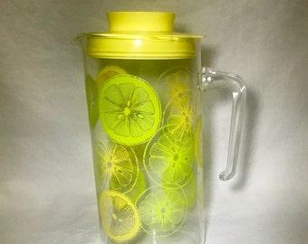 Vintage Pyrex 2Qt Glass Lemonade Pitcher w/Lid