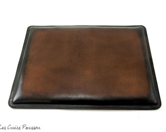 Leather Mouse Pad - Dark Brown - Office Mouse Pad