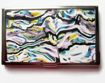 Business Card Case, Credit Card Case, Metal Card Case, Multi-color Pastels