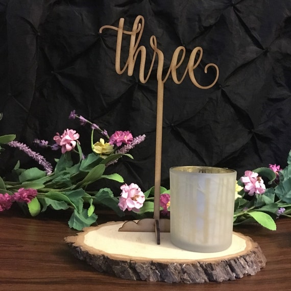 Wedding Table Number, DIY Table Numbers, Wooden Table Numbers, Gold Table Numbers, Laser Cut Wedding Decor, Rustic Wedding Table Numbers