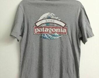 Small Size PATAGONIA T-shirt Organic Cotton Back Print