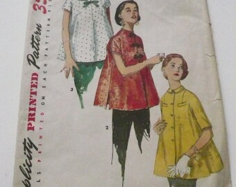 Vintage Simplicity Pattern 1552 Misses Maternity Top Size 16