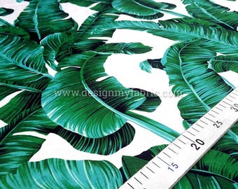 Banana leaf jacquard fabric #2155