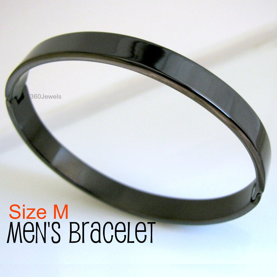bracelet row mens in diamond silver black sterling