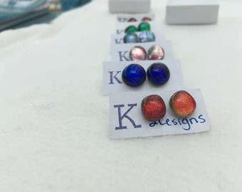 Fused Glass Stud Earrings