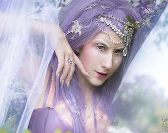 Scene Straight Layered Wig in Lavender Purple
