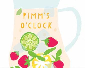 Pimm's O'Clock Art Print