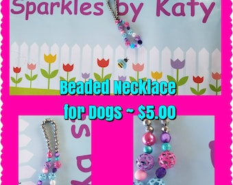 Beaded Dog Cat Small Pet Fashion Necklace