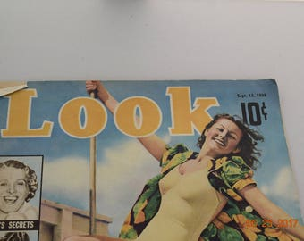 1938 September 13 Look Magazine - Great Photos and Ads