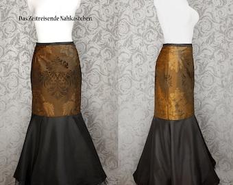 Fishtail skirt, mermaid skirt, brocade, gothic - made to measure