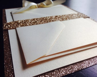 Glamorous Glitter Invitation // New Years Eve Wedding // Bat-Mitzvah