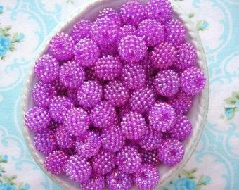 Berry Beads - Juicy Grape - 15mm - Set of 20