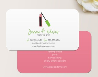 Grace square makeup artist or cosmetologist business card makeup artist business card calling card mommy card contact card cosmetologist calling cards makeup business cards reheart Gallery