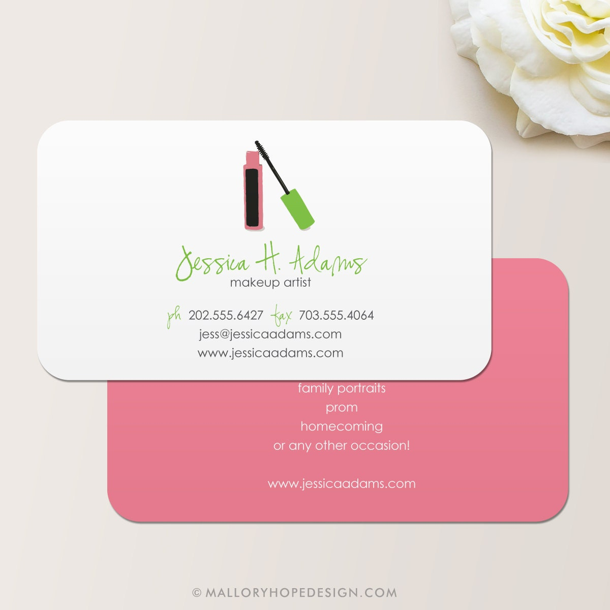 Makeup Artist Business Card / Calling Card / Mommy Card /