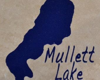 "Set of 4 ""Mullett Lake"" Coasters. Free Shipping"