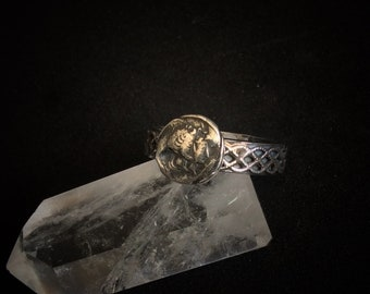 Wax Seal Ring / Silver Wax Seal Ring / Neptune And Diana Wax Seal ring / Artemis And Poseidon Wax Seal Ring / mythology / Hallmarked Ring