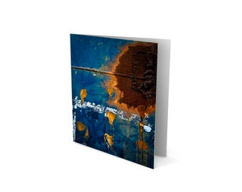 Urban Art Greetings Card – Midnight and Rust - Birthday – Anniversary – House Warming  – Sylvo81
