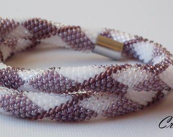 Hidden in Geometry - Bead Crochet Necklace