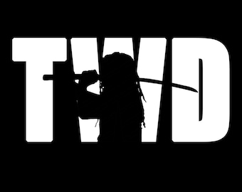 The Walking Dead with Michonne #1 Vinyl Sticker