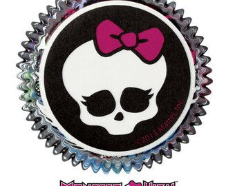 Monster High Cupcake Liners / Monster High Baking Cups / Cupcake