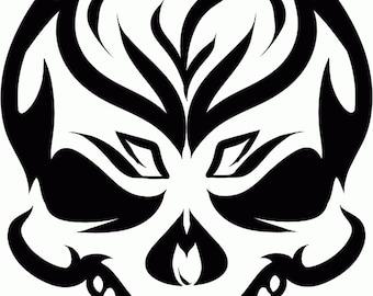 Tribal Skull Vinyl Decal