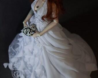 SD BJD Wedding dress, BJD Dress, Wedding dress, bjd clothes
