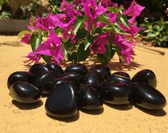 Black Obsidian Tumbled