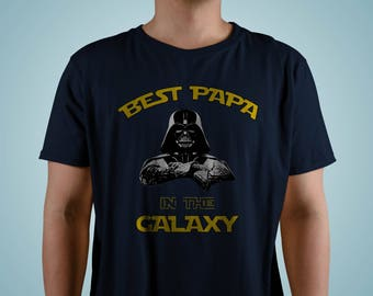 Best PAPA in the GALAXY - Father's day shirt gift - Star Wars shirt for dad - Star wars family Premium Men's T-Shirt