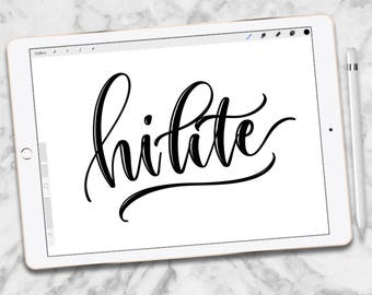 Custom Procreate Brush:  Hi-lite